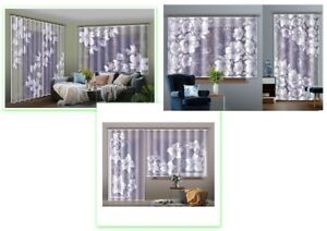 READY HANG WHITE JACQUARD NET CURTAIN FLOWER DESIGN NEW VICE-VERSA COLLECTION