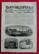 Harper's Weekly May 20 1865 Lincoln's Funeral Booths Death Grant Palm Sunday