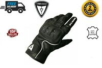 Motorbike Motorcycle leather racing Gloves with protections Black men/women