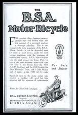 1920 BSA motorcycle illustrated UK vintage print ad