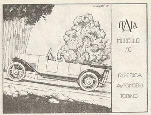 W7524 Automobili Itala Model 50 - Advertising Of 1920 - Old Advertising