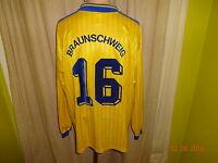 Eintracht Braunschweig Adidas Langarm Matchworn Trikot 1997/98 + Nr.16 Gr.XXL