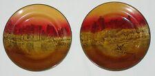 2 Antique Royal Doulton Plates Featuring Bodiam Castle & Arundel Castle-England