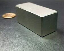 "N52 2"" Neodymium Block Magnet Super Strong Rare Earth Bar Over 5k Gauss"