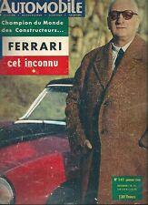 L'Automobile # 141 1958 Spécial Ferrari Moto Ratier 500 & 600 cm Isetta écrin