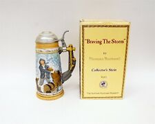 1982 Norman Rockwell Braving the Storm Limited Edition Beer Stein w/ Box B9264