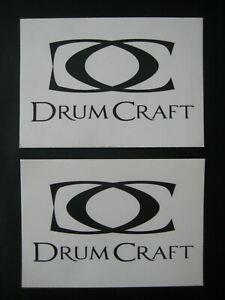 2 x Aufkleber - DRUM CRAFT, unbenutzt