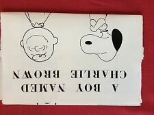 m77a ephemera 1971 film preview a boy named charlie brown snoopy charles schulz