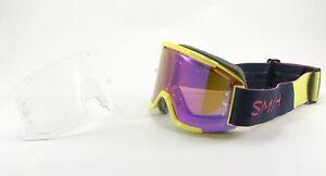 Smith Squad MTB/Bike Goggles Citron / Indigo, Everyday Violet Mirror Lens +Bonus