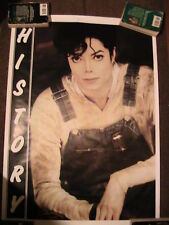 Michael Jackson poster History Overalls Mint Oop Rare Uk