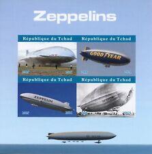 More details for chad aviation stamps 2021 mnh zeppelins hindenburg airships 4v impf m/s