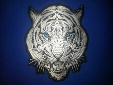 White Tiger Patch ''bright blue eyes'' large 9'' by 7.5''