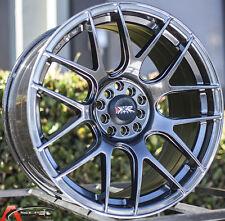 XXR 530 18X8.75 5x100/114.3 +20 Chromium Black Wheel Fits Civic Veloster Eclipse