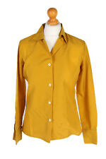 Vintage 3Pi Shirt Long Sleeve Plain Casual London Tops UK Chest M Brown - LB224