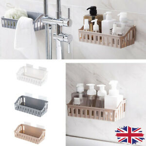 Bathroom Storage Basket Holder Shelf Shower Caddy Shampoo Suction Cup  c