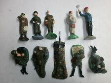 Konvolut 10 alte Durolin Massesoldaten Fernmelder Pilot Sanitäter Generäle 7cm