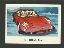 Ferrari Dino Vintage Car Collector 1972 Trading Card from Spain
