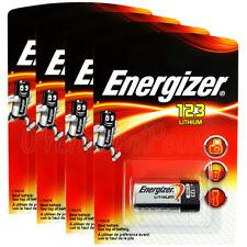 4 x Energizer Lithium CR123 batteries 3V 123A CR17345 EL123 Photo Camera EXP2026