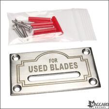 Blade Bank - Maggard Razors Lifetime Wall Slot Blade Bank for Used Blades