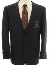NWT John Ashford Wool Blend Check 48L Blue Mens 2 Button Sport Coat Blazer