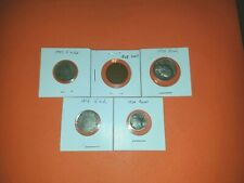 Lot of 5 old coins 1868 1906 1907 1924 1956!
