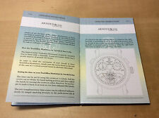 New - ARNOLD & SON Tourbillon - Instructions Manual - For Collectors