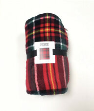 NWT Victoria's Secret's PINK Red Plaid Sherpa Blanket 50 In. X 60 In. Blanket
