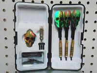Viper Darts 20 gm Elite W/Skull Flights Soft Tip Dart Set & 50 Extra Tips