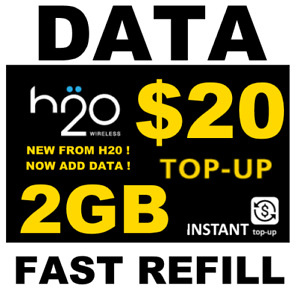 $20 H2O H20  >> 🔥 DATA 🔥 TOP UP  >> 2 GB RE-UP 🔥 GET IT TODAY! FAST! 🔥