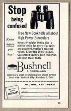1954 Print Ad Bushnell Binoculars Pasadena,CA