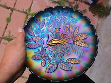 Northwood Blue Peacock And Urn Master Ice Cream Bowl - Loads Of Color