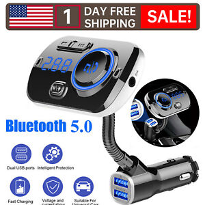 Car Bluetooth Wireless AUX Stereo Audio Receiver FM Transmitter Radio Adapter-R2