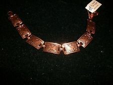 "Womens Solid Copper Thunderbird Link  Bracelet  7 1/2"" New"
