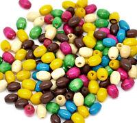 1500 Mix Gefärbt Oval Rohr Holz Spacer Perlen Beads