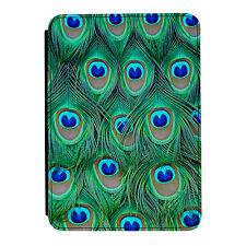 Peacock Feathers Pattern Beautiful iPad Mini 1 2 3 PU Leather Flip Case Cover