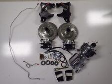 1965-1970 Impala front power disc brake conversion 2 inch drop spindles chrome
