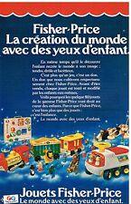 Publicité Advertising 1980 Jeu Jouets Fisher Price