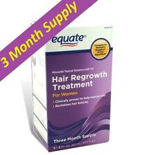 Women's Hair Regrowth Topical Solution 2% Minoxidil, Equate 3 Months