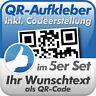 QR Code Aufkleber, Ihr Wunschtext als QR-Code, 5 Stück, 10x10 cm, wetterfest