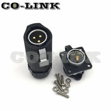 LP20-3Pin Waterproof Connector IP67 High Voltage Power Cable Bulkhead Connector