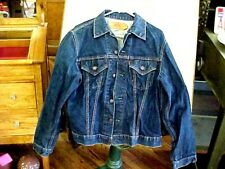 True VINTAGE 70s Levi's 2 Pocket Big E Type III Denim Jean Jacket 44 USA  SUPER!