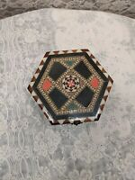 Spanish Marquetry Inlay Trinket Box Made In Granada