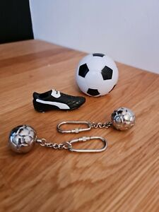Miniature PUMA Football Boot, 2 x  METAL keyrings, Magnetic bottle opener