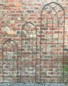 Garden Trellis Metal Plant Support Rust Effect Climbing Trellises Frame Gothic