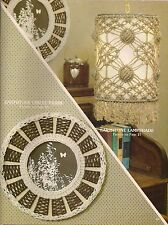 Macrame Circle Frame & Hanging Lamp Pattern - Craft Book: #AC1 Accents