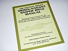 OFFICIAL SOVIET MOSIN NAGANT SNIPER RIFLE MANUAL PU SCOPE NEW PALADIN Book 7.62