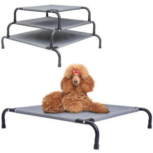 Pet Puppy Raised Beds Cot Dog Cat Elevated Camping Cot Indoor Outdoor Portable S