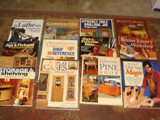 9 Diff WOODWORKING BOOKS - Softbound - Lathe, Routers, Cabinets - YOUR CHOICE