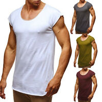New Men's Slim Fit O Neck Short Sleeve Muscle Gym Plain Tee T-shirt Casual Tops