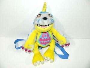 "Vintage 2000 Digimon 13"" Gabumon Plush Backpack stuffed Collectible ORIGINAL"